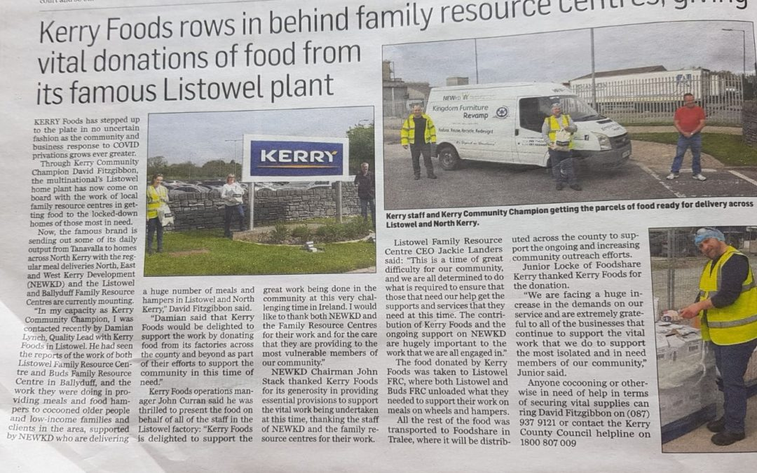 Kerry Foods Rows In Behind Family Resource Centres